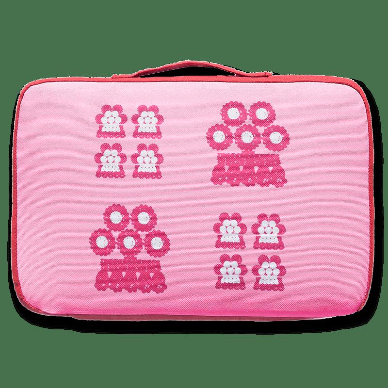 tienda Belinda Carasucia diseño taurino comercio electrónico almohadillas almohadilla alamares pequeños fondo rosa AL016