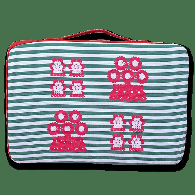 tienda Belinda Carasucia diseño taurino comercio electrónico almohadillas almohadilla alamares pequeños rayas verdes AL017