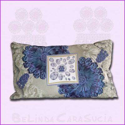 tienda Belinda Carasucia diseño taurino comercio electrónico cojines cojín baguette hombreras gris y azul BG041