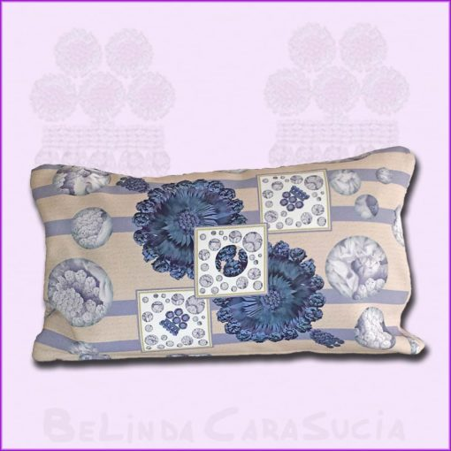 tienda Belinda Carasucia diseño taurino comercio electrónico cojines cojín hombreras baguette rayas azules BG042