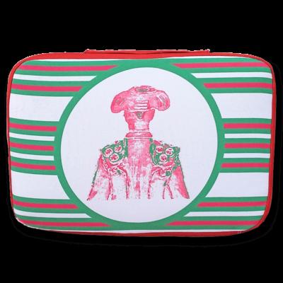 tienda Belinda Carasucia diseño taurino comercio electrónico almohadillas almohadilla torero rayas rojas y verdes TR023